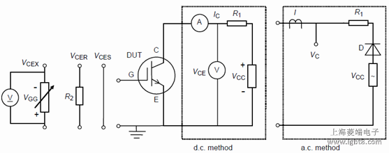 Circuit for measuring the collector-emitter voltages VCES, VCER, VCEX