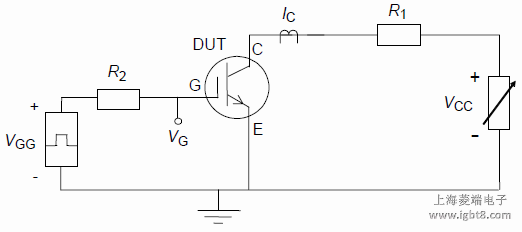 Circuit for measuring peak collector current