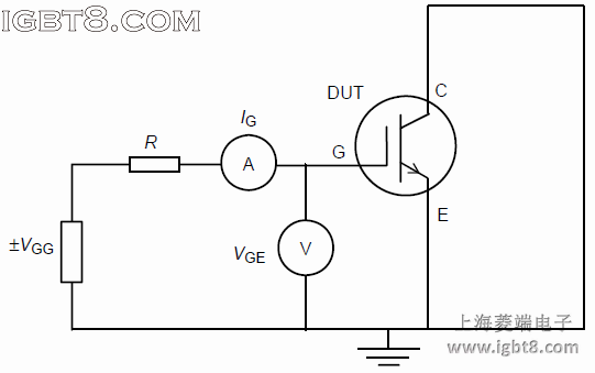 Circuit for testing the gate-emitter voltage ±VGES