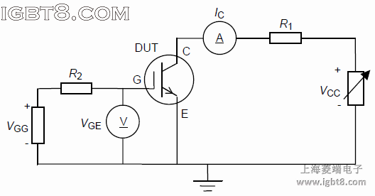 Circuit for measuring collector current