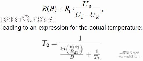 igbt模块ntc温度传感器阻值与温度测量