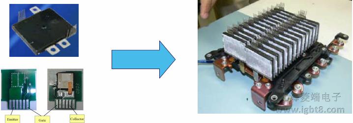 电动汽车用双面散热IGBT模块