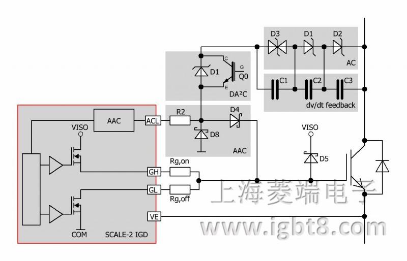 电压抑制二极管(tvs)反馈到igbt门极的单反馈电路