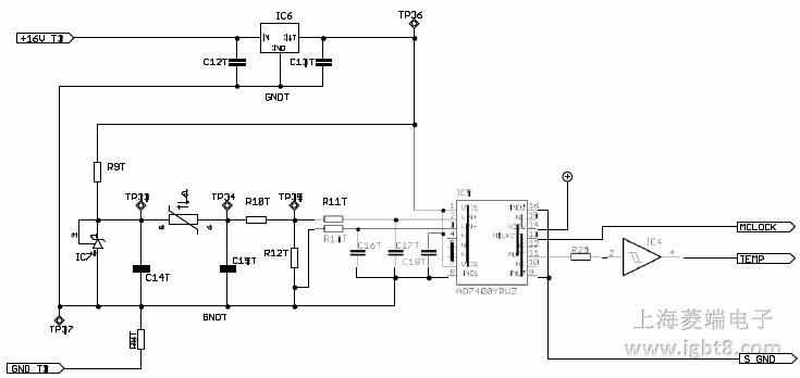 温度测量电路原理图
