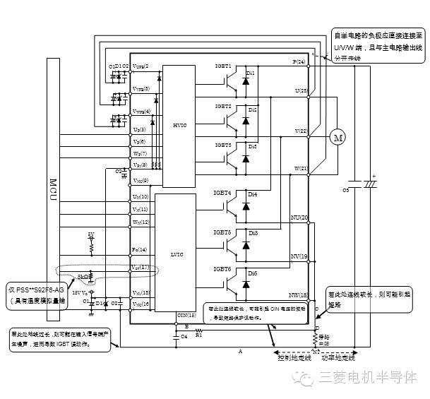 典型接口电路例(采用1-shunt电阻)
